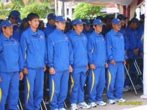 Acara Pengukuhan Tim Porda Kab. Kuningan di Lapangan Pandapa Paramartha Kuningan