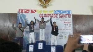 Medali Perunggu Echa Rahma Fatihatul Fajriyah kategori cadet kelas U-33 kg Puteri