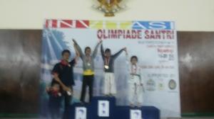 Medali Perunggu Siti Najwa Nafilah Al Adawiyah kategori pracadet kelas U-25 kg Puteri