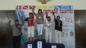 Medali Perunggu Hani Nuraini kategori Junior kelas U-55 kg Puteri
